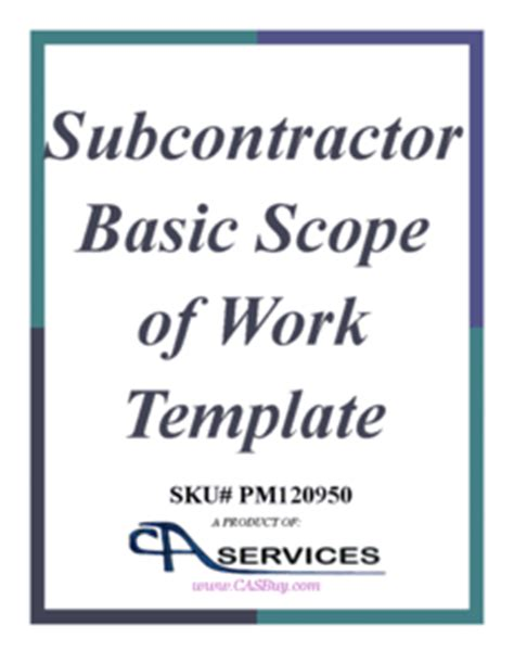 subcontractor scope of work template simple scope of work template jose mulinohouse co