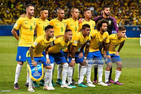 Schiffer Pose For World Cup 2 by Players Of Brazil Pose For A Photo Before A Match Between