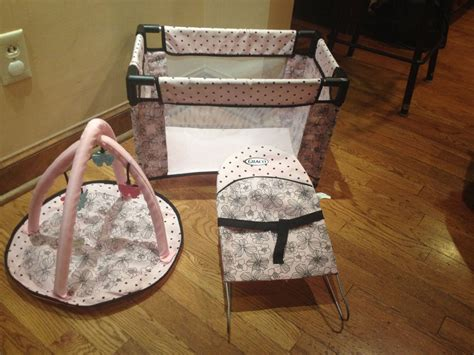 Graco Doll Crib by Graco Deluxe Baby Doll Pack N Play Crib Yard Mat Toys 3 In