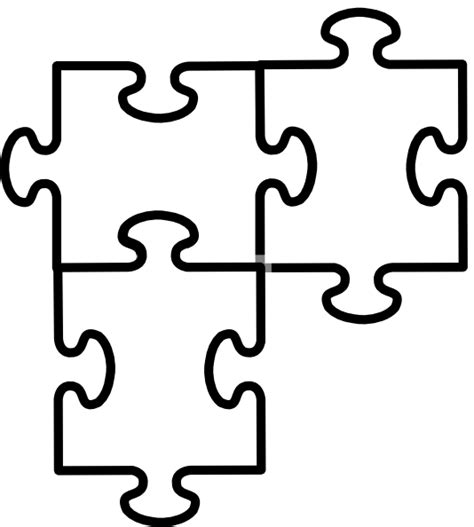 blank puzzle piece template clipart best