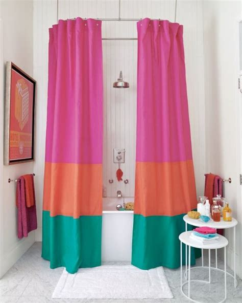 color changing shower curtain how to change the d 233 cor of your bathroom with a simple diy