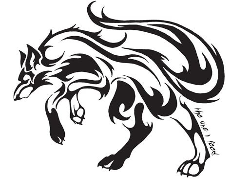 tribal wolf tattoo by mireille rae on deviantart