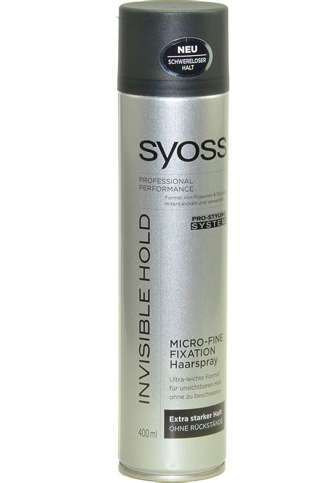 Sho Syoss 400 Ml syoss invisible hold haarspray professional performance