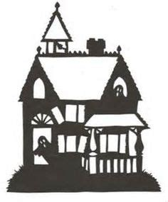 Haunted House Cut Out Template