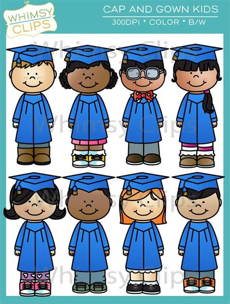 Cap and Gown Kids Clip Art , Images & Illustrations ... Free Clip Art Christmas Theme