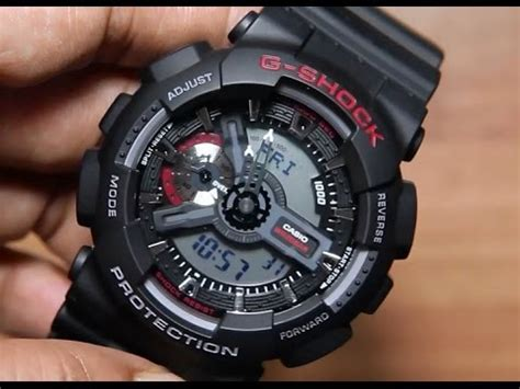 G Shock Ga 110 casio g shock ga 110 1a unboxing light demo