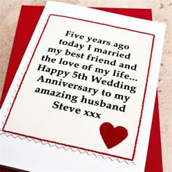 personalised 5th wedding anniversary card by arnott cards gifts notonthehighstreet