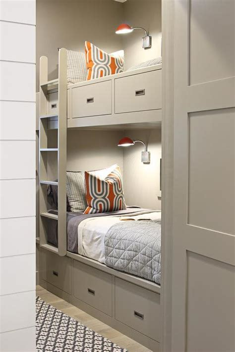 Pictures Of Bunk Beds Built In by Gray Built In Bunk Beds Contemporary Boy S Room