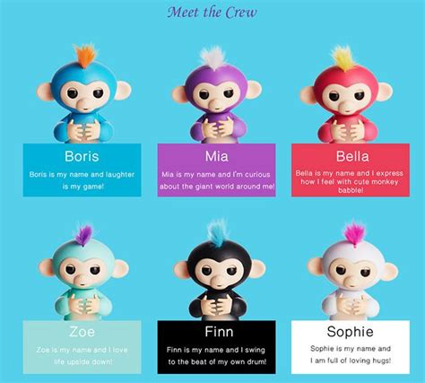 Mainan Interaktif Fingerlings Monkey Smart Blue fingerlings interactive baby monkeys incredorable