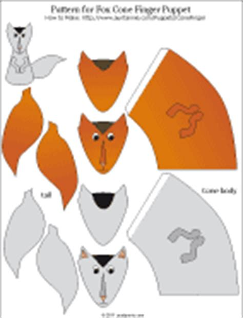How To Make A Paper Fox Puppet - how to make paper cone finger puppets puppets around the