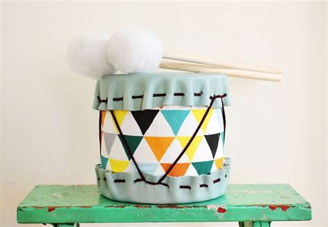 Handmade Drum - adorable diy drums for children kidsomania