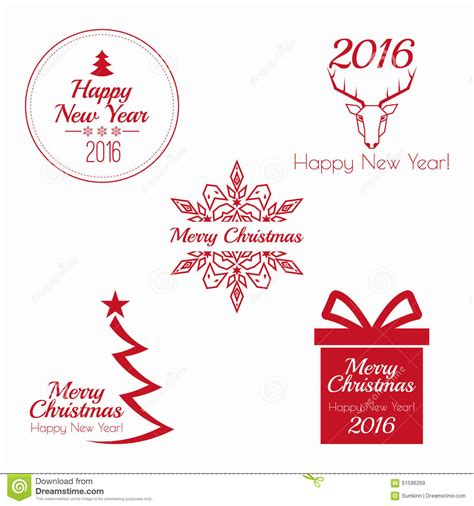 new year greeting etiquette merry and happy new year stock vector image