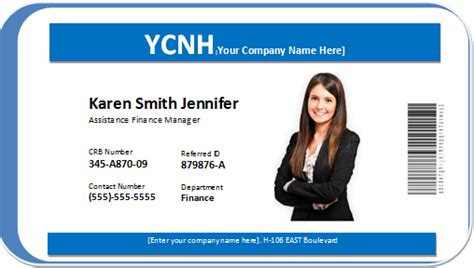 company id card template word photo id badge word templates word excel templates