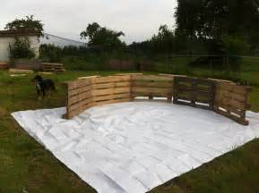 this diy pallet swimming pool is perfect for any backyard
