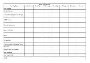 running training calendar template calendar template 2016