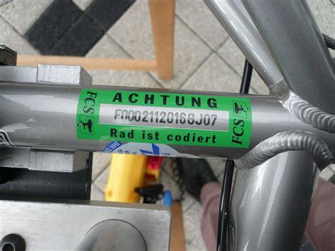 Aufkleber Fahrrad Codiert by Adfc Frankfurt Fahrradcodierung