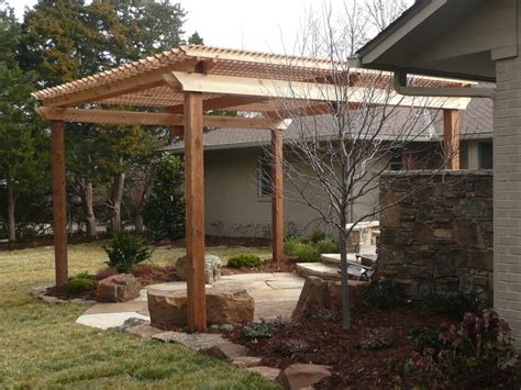 garden patio arbor redbud design