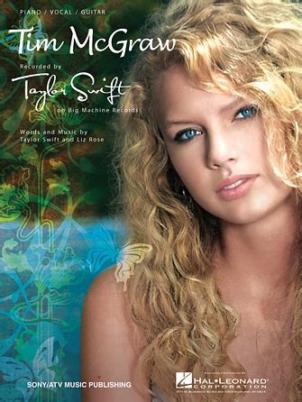 taylor swift first country song tim mcgraw sheet music direct