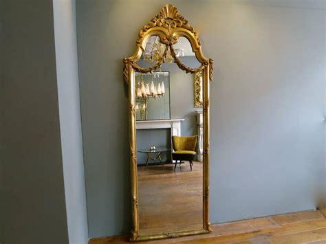 antique gold gilt floor standing mirror at 1stdibs