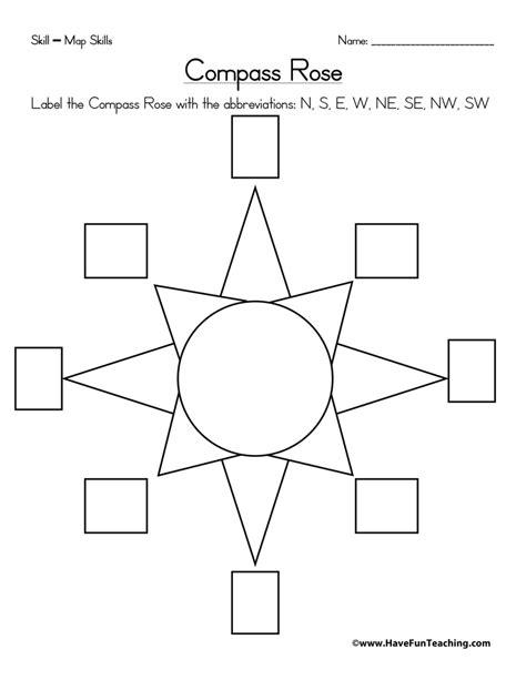 printable compass directions compass rose worksheet have fun teaching