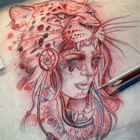 tattoo girl sketch leopard hood girl tattoos pinterest hoods leopards