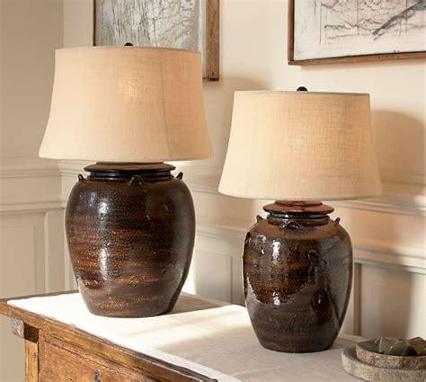 courtney ceramic table courtney ceramic table l base espresso pottery barn