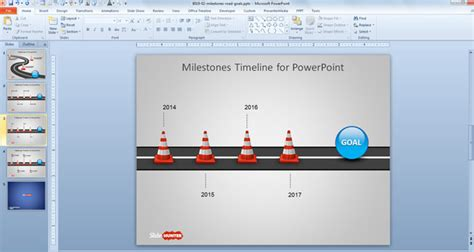 milestone presentation template free milestone shapes