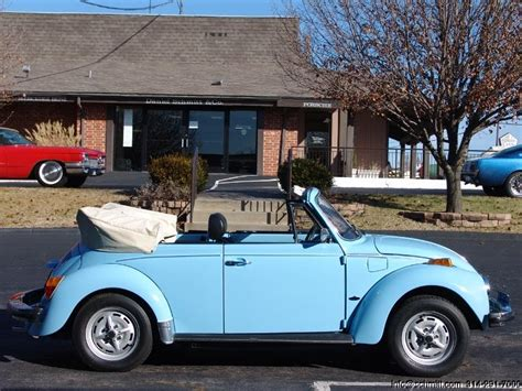 blue volkswagen beetle vintage 1979 vw beetle convertible fuel injected california car