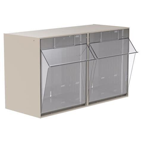 akro mils tiltview cabinet 2 bins 30 lb capacity storage akro mils tiltview storage bins 2 clear removable bin