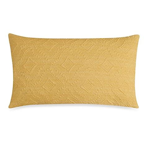 yellow bed pillows ashbury oblong toss pillow in yellow bed bath beyond