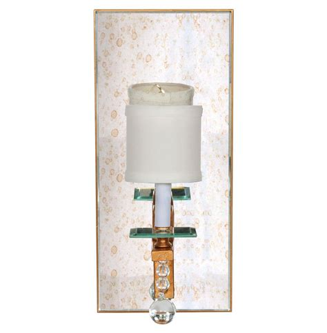 Mirrored Wall Sconce Bishop Regency Gold Mirrored Wall Sconce Kathy Kuo Home