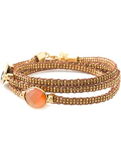 a bijoux gas bijoux fever multi bracelet in metallic lyst