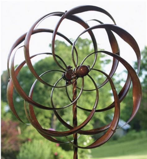 Garden Spinners And Decor New Garden Wind Spinner Windmill Yard Decor Metal Kinetic Pinwheel Sculpture What S It Worth