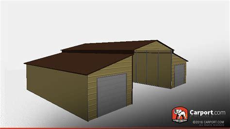 Rv Garage Doors 30 x 40 x 12 ridgeline barn with two garage doors