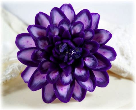Alensa Purple purple dahlia brooch pin purple dahlia lapel