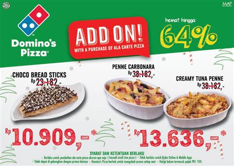 domino pizza bandung promo dominos pizza promo menu add on diskon 64 giladiskon
