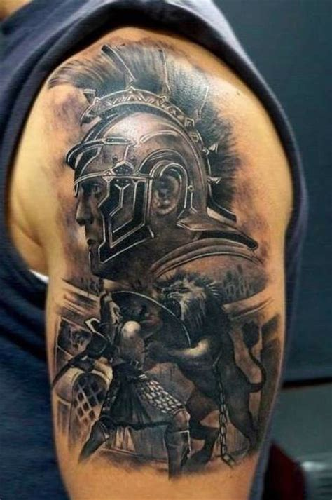 roman sleeve tattoo designs best gladiator ideas for males on arm tato