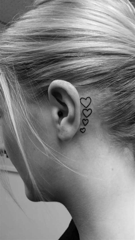 heart tattoo behind ear 69 unconventional ear designs to drool