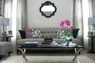 Galerry design ideas with grey sofa