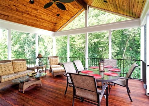 screen porches rustic porch dc metro by core outdoor living