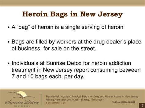 List Of Detox Centers Nj by Heroin Addiction Treatment In New Jersey Bags Bundles