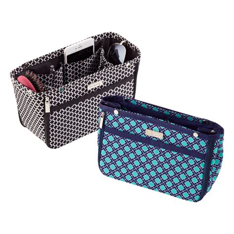 Gift Card Organizer For Purse - navy aqua tile in bag purse organizer the container store
