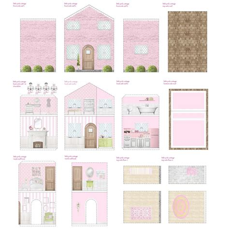 dolls house template 7 best images of printable dollhouse accessories doll house accessories printables