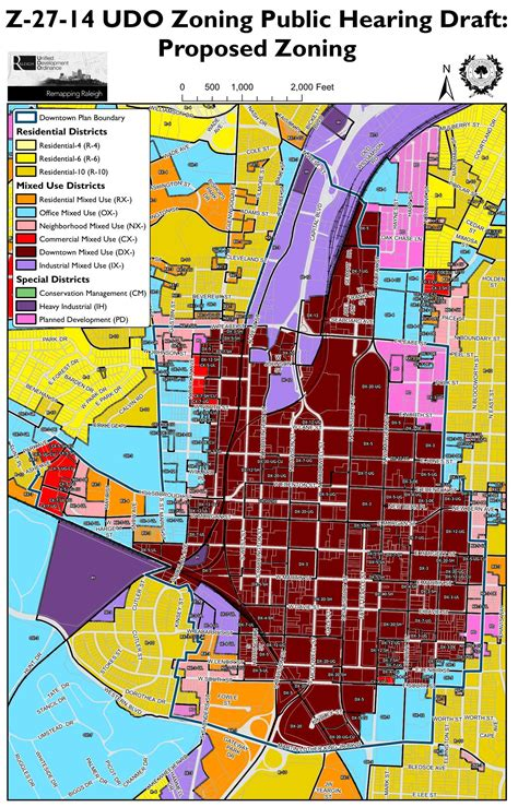 downtown raleigh map downtown rezoning
