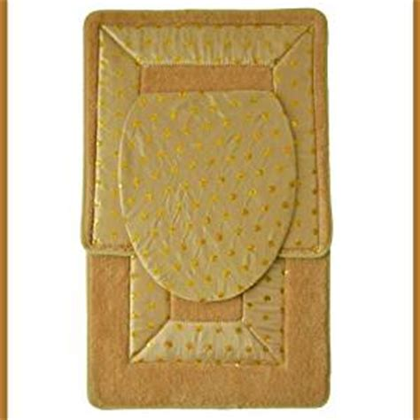 Gold Bathroom Rug Sets Gold 3 Embroidered Bathroom Rug Mat Set Bath Rug Mat Contour Rug Mat