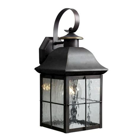 patriot lighting 174 16 5 quot olde bronze 1 light outdoor wall mount - Outdoor Lighting Menards