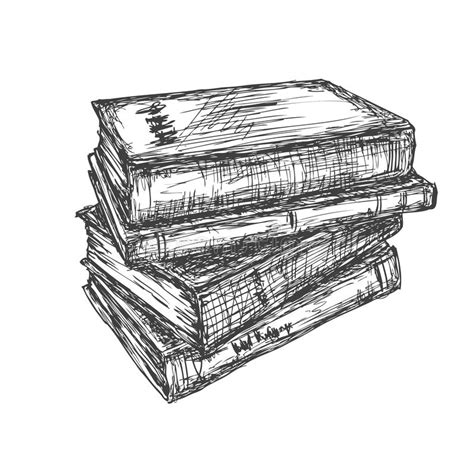 doodle drawing books sketch of a stack books stock illustration image 56421424