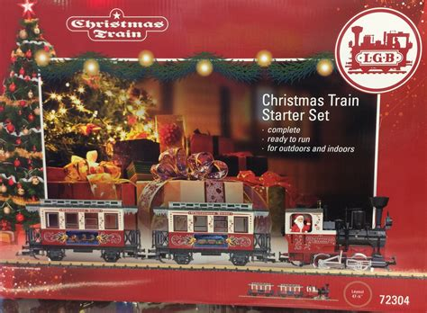 model train starter sets lgb 72304 christmas train