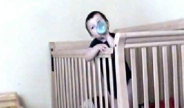 Baby Escapes Crib by Baby Escapes His Crib