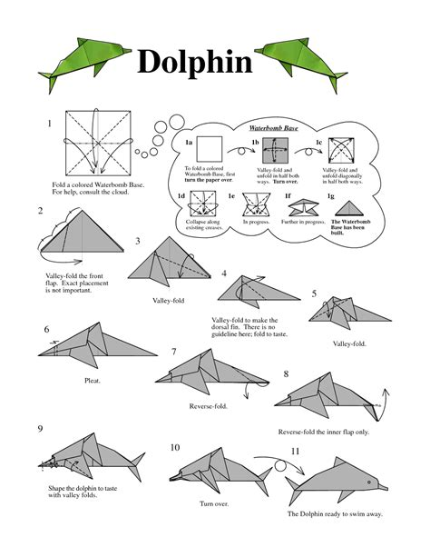printable origami fish instructions origami dolphin instructions easy origami instructions
